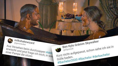 Der Bachelor: Sebastian Preuss und Wioleta in einer Schokoladen-Wanne