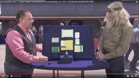"""Ein ehemaliger US-Soldat präsentiert in der Sendung""""Antiques Roadshow"""" seine RolexOyster Cosmograph"""