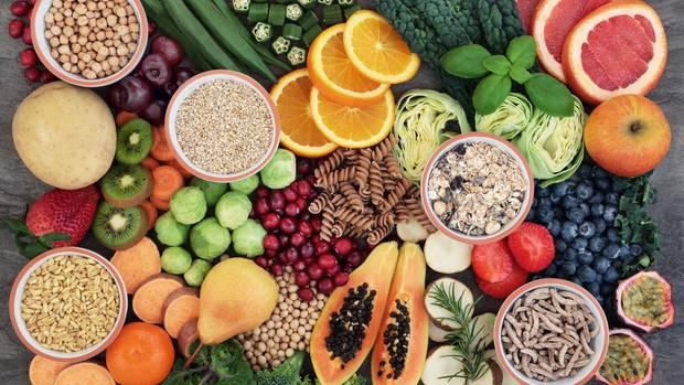 Obst und Gemüse enthält viele Ballaststoffe