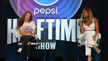 Shakira und Jennifer Lopez auf der Pressekonferenz zum Super Bowl 2020