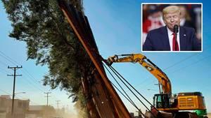 Trumps Mauer an der Grenze zu Mexiko musste in Teilen wieder abgerissen werden