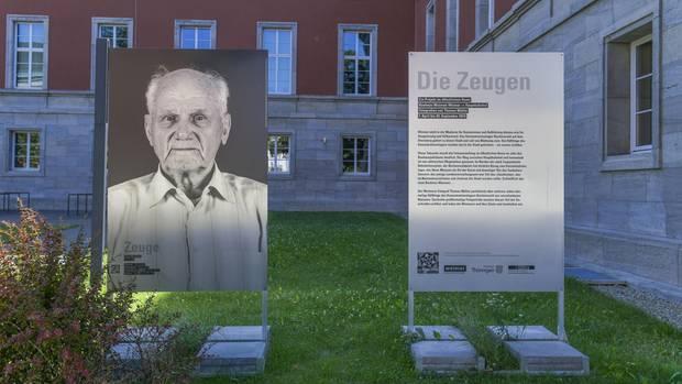 """Nachrichten aus Deutschland: Porträt des 93-jährigen Andrej Moisejenko in der Ausstellung """"Die Zeugen"""""""
