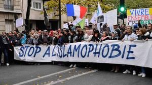 Demonstration gegen Islamophobie in Frankreich