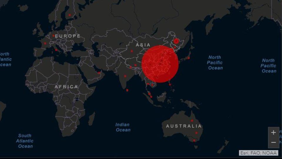 Coronavirus: Interaktive Karte zeigt weltweite Verbreitung