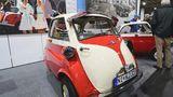 BMW 300 Isetta von 1960 mit 12 PS. Spitze war 85 Km/h. Sie gehört Isetta Clubmitglied Klaus Lohmann.