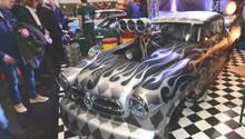 Die Borgward Isabella von 1954 mit 2000 PS - Spitze bis 325 km/h - ist erstmals auf einer Messe zu sehen. Von Drag Racing Germany.