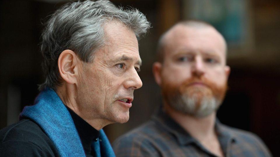 'Evryman'-Gründer Owen Marcus (l.) und Daniel Doty