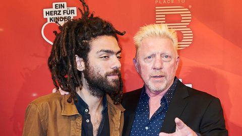 Noah Becker mit seinem Vater Boris