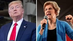 Elizabeth Warren und Donald Trump haben schon einen großen Schlagabtausch hinter sich.