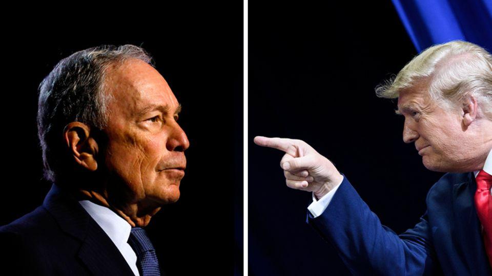 US-Präsident Donald Trump (r.) und der demokratische Präsidentschaftsbewerber Michael Bloomberg