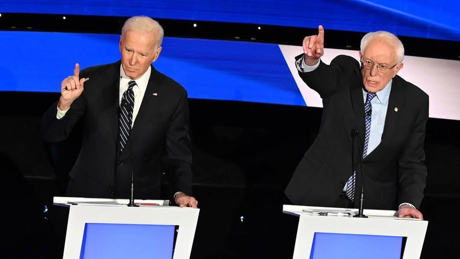 Joe Biden und Bernie Sanders