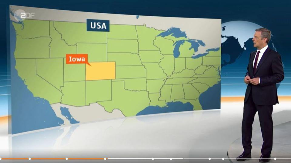 ZDF-Panne: Lage Iowa mit der von Colorado verwechselt