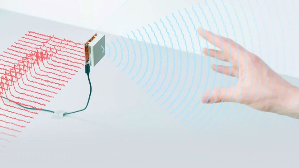 Der Radar-Chip erkennt Nähe und Bewegungen