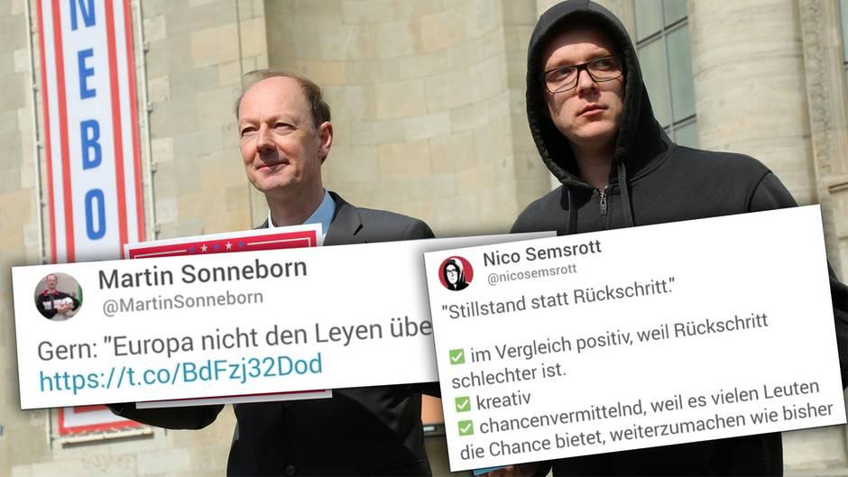 Sonneborn und Semsrott antworten auf Zwölftklässler-Tweet