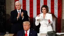 Donald Trump und Nancy Pelosi