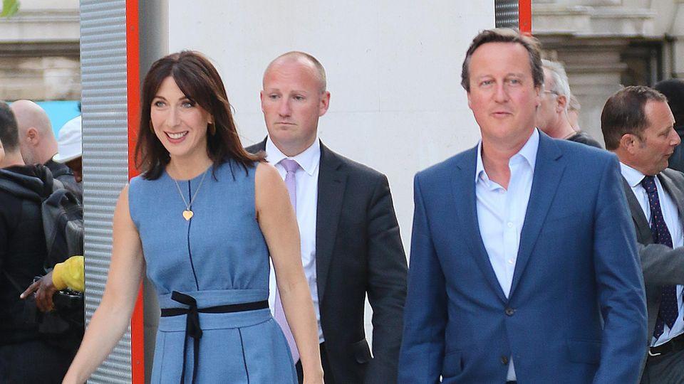 David Cameron und seine Frau Samantha bei einem offiziellen Termin
