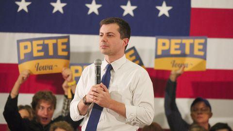 Der demokratische Präsidentschaftskandidat Pete Buttigieg bei einer Wahlkampfveranstaltung in Iowa