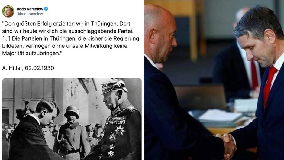 Thüringen: Ramelow polarisiert mit Hitler-Zitat zu Kemmerich
