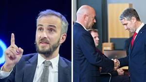 Jan Böhmermann, Thomas L. Kemmerich und Björn Höcke