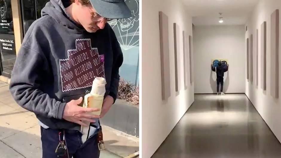 Los Angeles: Künstler schmuggelt Gemälde in Kunstmuseum und hängt es an die Wand