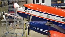 Blick auf den Bug der DC-3