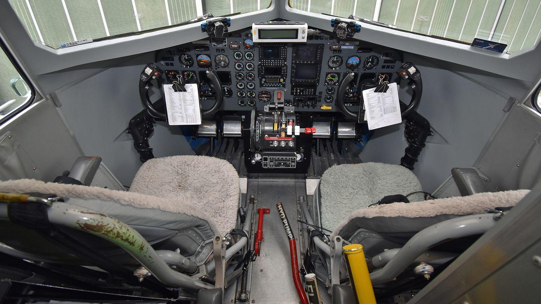 Arbeitsplatz der Piloten