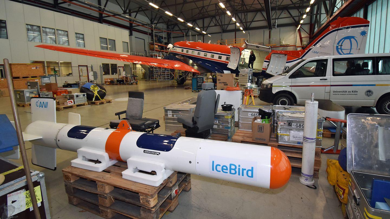 IceBird zur Messeung der Eisdicke