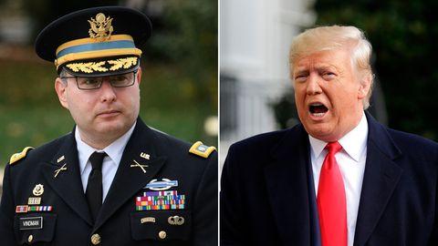 Oberstleutnant Alexander Vindman (l.) und US-Präsident Donald Trump
