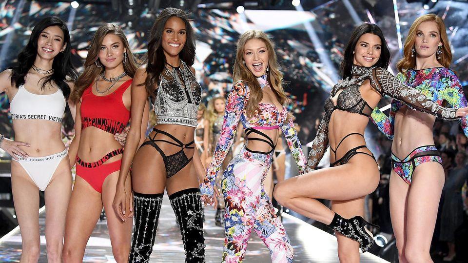 Models bei der Victoria's Secret Show 2018 in New York