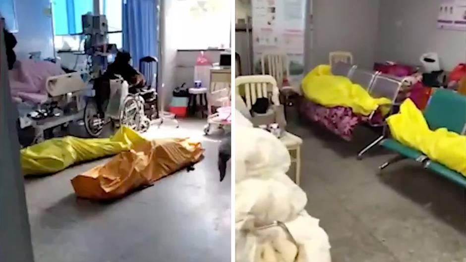 Coronavirus: Aufnahmen sollen Zustände in chinesischen Krankenhäusern zeigen