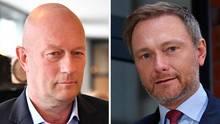 Thomas Kemmerich und Christian Lindner von der FDP in Porträts