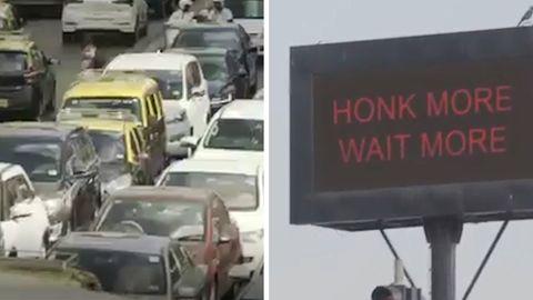 Wer hupt, bleibt länger stehen: Mumbai führt die rote Ampel gegen Lärm ein.