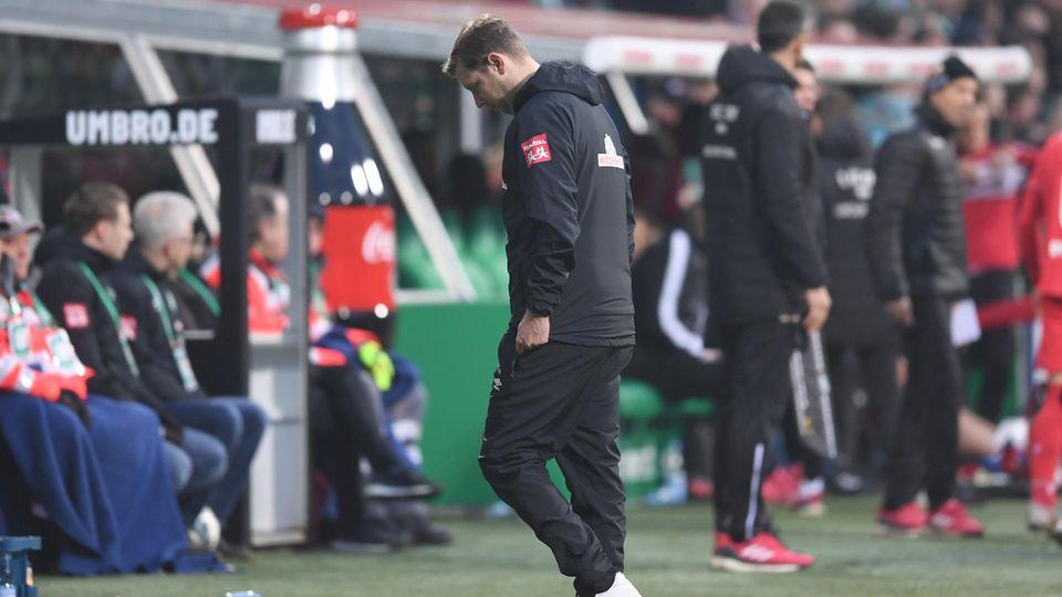 Werder-Trainer Florian Kohfeldt zeigte sich nach der erneuten Bundesliga-Niederlage ratlos