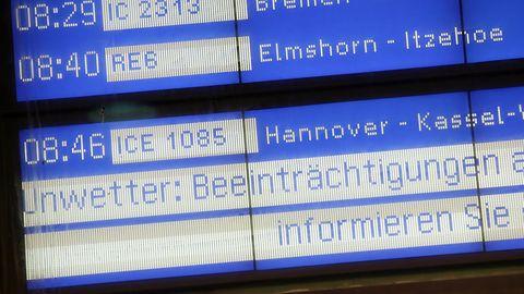 """Die Deutsche Bahn rüstet sich für Sturm """"Sabine"""""""
