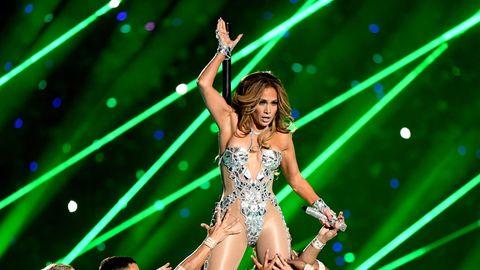 Jennifer Lopez bei ihrem Auftritt während der Superbowl-Halbzeit