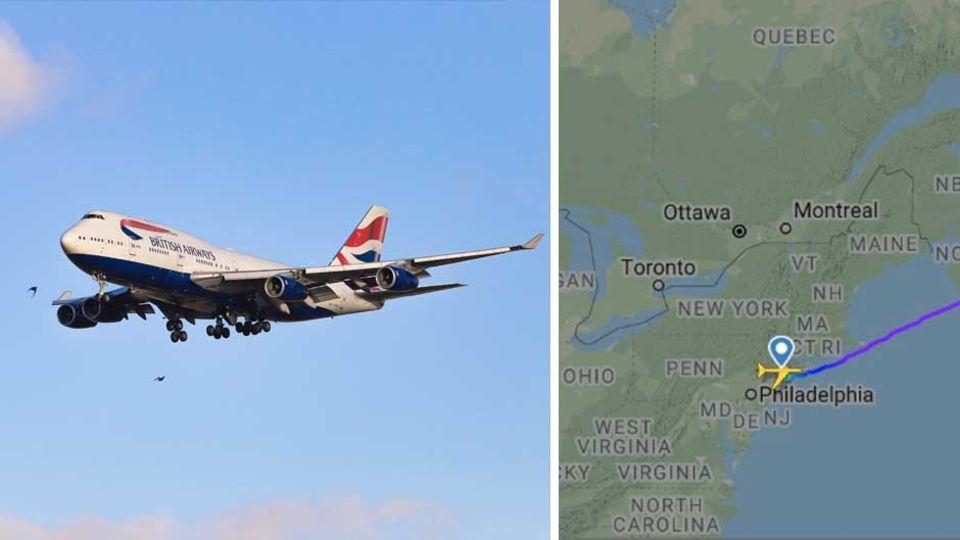 """Dank Sturmtief """"Sabine"""" überquerte der Jumbojet der British Airways den Atlantik in weniger als fünf Stunden"""