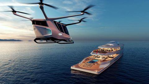 Die Yacht verfügt natürlich über einen Landeplatz für einen Hubschrauber.