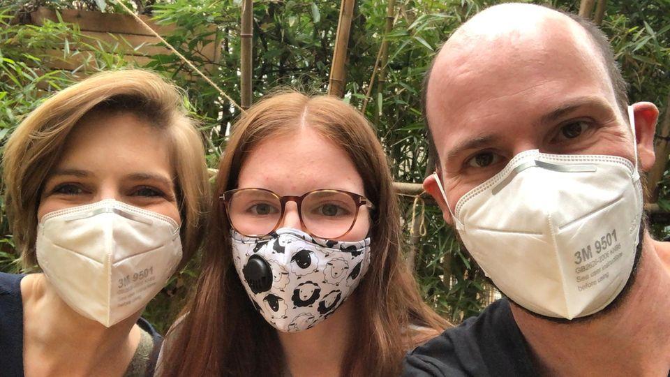 Angst vor Coronavirus: Carina La Grange mit Mann André und Tochter Josephine