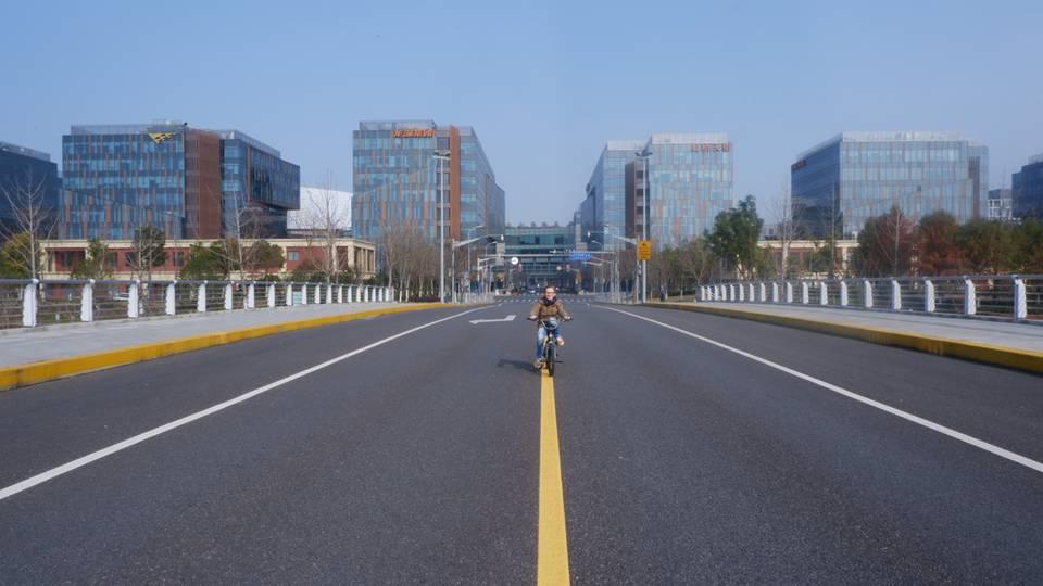 Leere Straßen in Shanghai