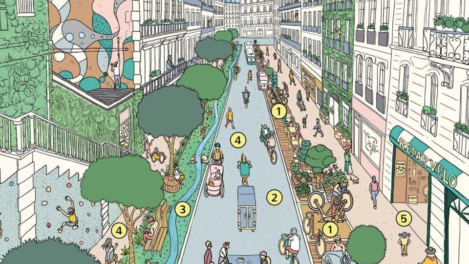 Die Breite der Fahrbahn wird auf die Dimension zurückgeschraubt, die bei der Planung der Stadtviertel vorgesehen war.