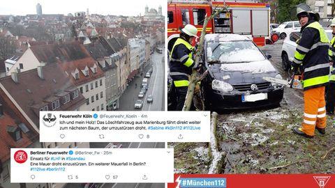 Feuerwehreinsatz, Twitterkommentare