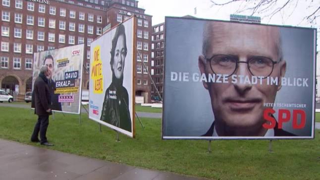 Vor der Bürgerschaftswahl: Wahlplakate in Hamburg: Wie wirken sie auf die Wähler?