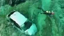 Unter Drogeneinfluss: Mann auf Mallorca rast mit seinem Auto ins Meer.