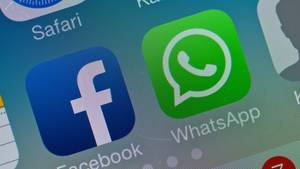 Die Apps von Facebook und Whatsapp