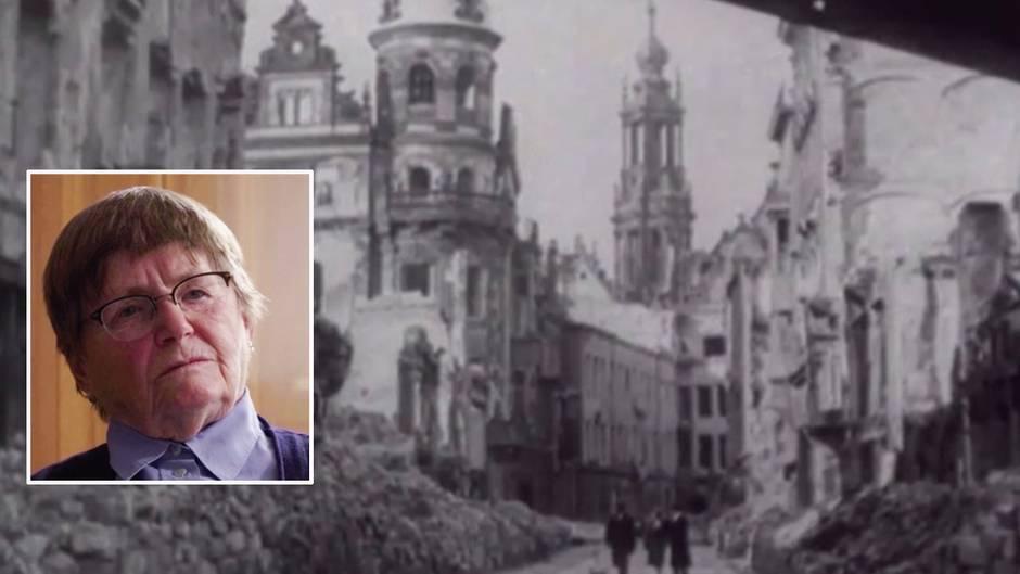 """75 Jahre nach Bomberstaffel-Angriff: Überlebende von Luftangriff auf Dresden: """"Ich habe gezittert, alles zitterte an mir"""""""