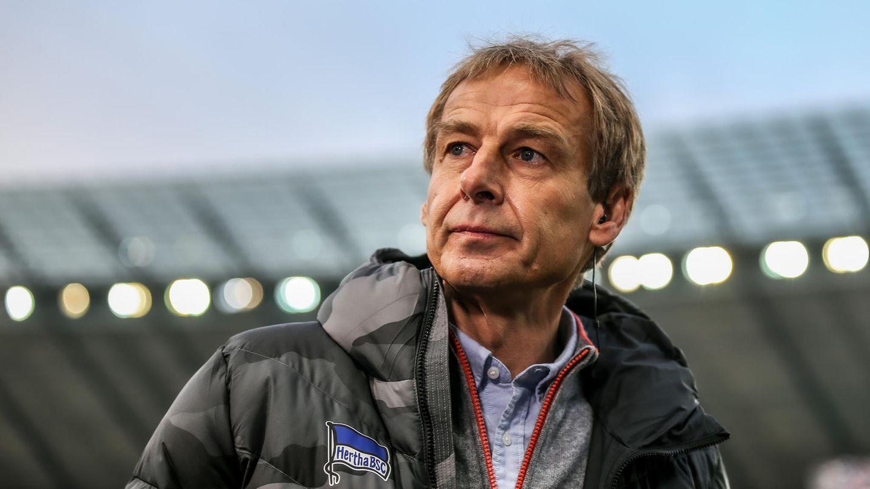 Jürgen Klinsmann, ehemaliger Cheftrainer von Hertha BSC,im Stadion