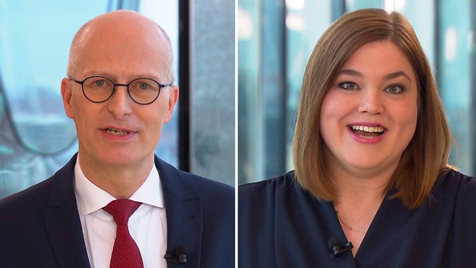 Spitzenkandidaten zur Bürgerschaftswahl: TV-Duell: Hier streiten Tschentscher und Fegebank über Hamburgs Zukunft