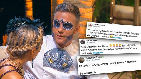 """Der Bachelor"" Sebastian Preuss macht sich im Netz weiter unbeliebt."
