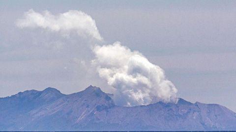 DerVulkanvon White Island am 11. Dezember 2019, zwei Tage nach dem Ausbruch