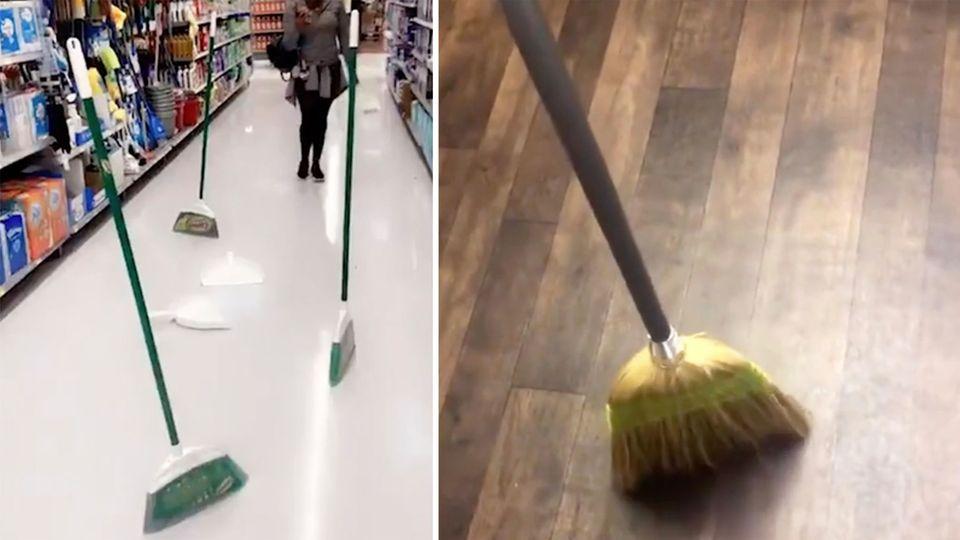 #broomchallenge: Die Schwerkraft austricksen? Verrückte Besen-Challenge flutet Twitter